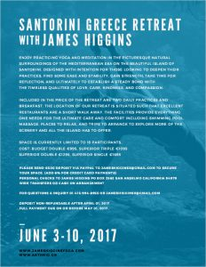 Santorini Retreat with James Higgins
